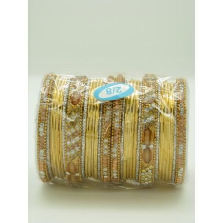Bijoux bracelets indien en métal existe en rouge, rose, vert, noir, bleu...