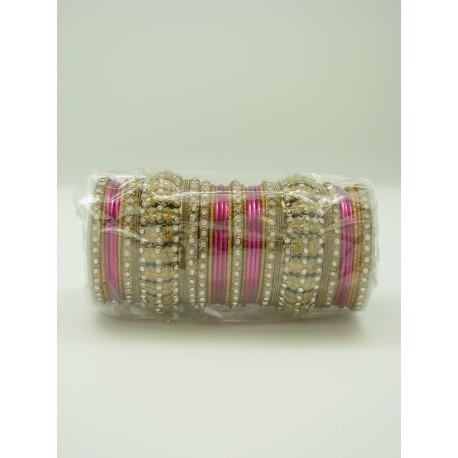 Bracelet indien paillette et pierres Bollywood