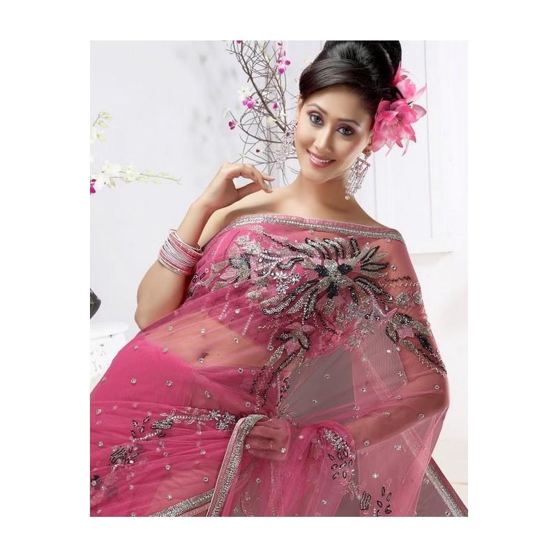 Vente Sari Mariage Indien Brod 233 De Perles