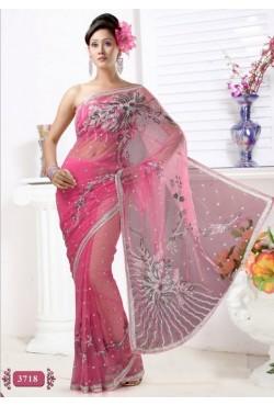 Sari mariage indien brodé