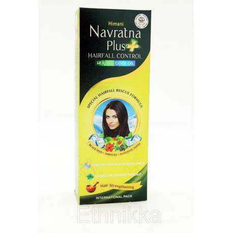 Huile Navratna Plus contre la chute de cheveux