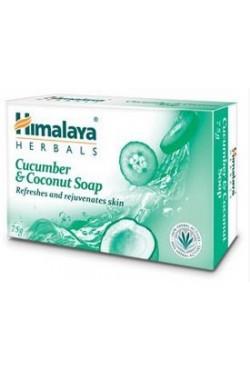 """Savon Himalaya concombre et noix de coco """"Cucumber & coconut"""" pour la peau"""