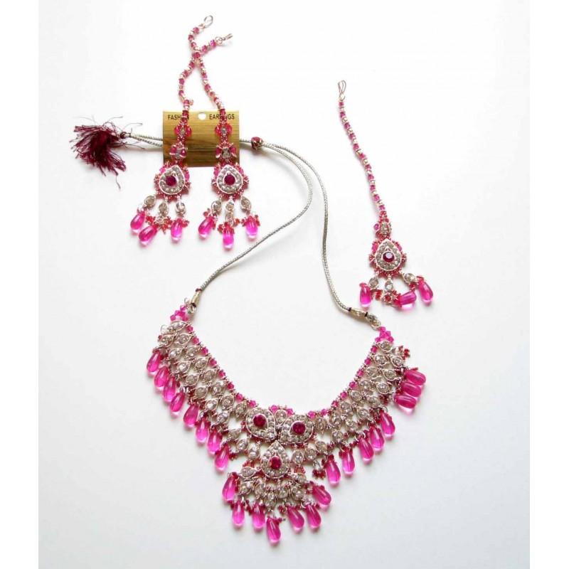 achat parure indienne bijoux mariage bollywood pour femme peu cher bijoux d 39 inde. Black Bedroom Furniture Sets. Home Design Ideas