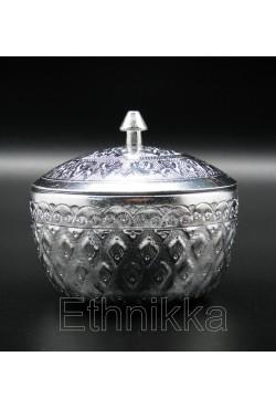 Coupelle thailandaise en aluminium ciselée