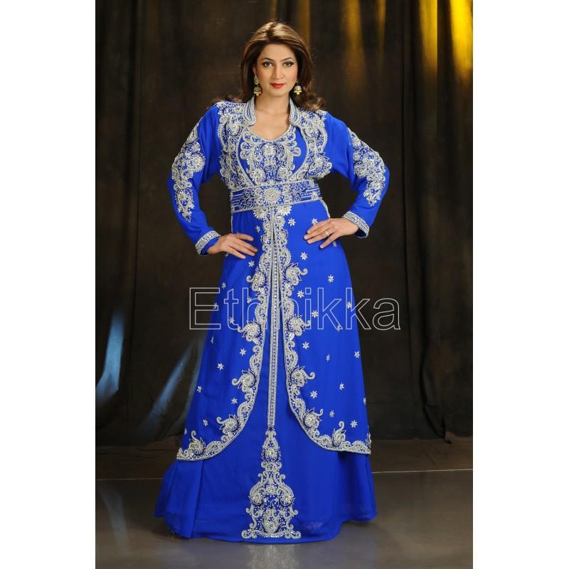 f84c253536ff9 Acheter caftan robe dubaï bleue