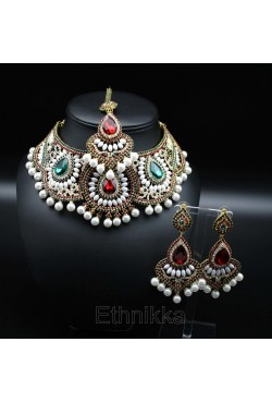 Bijoux ethniques Parure Punjabi en plaqué or