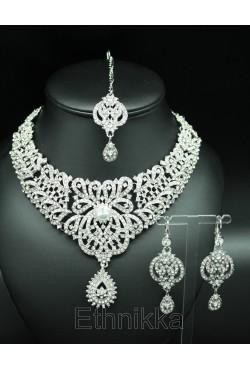 Bijoux ethniques parure arabesques plaqué argent