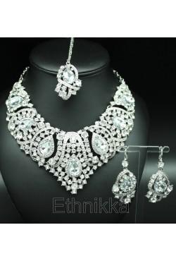 Parure bijoux indiens plaqué or ou argent