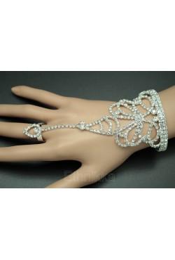 Bijoux indiens bracelet de bague argenté