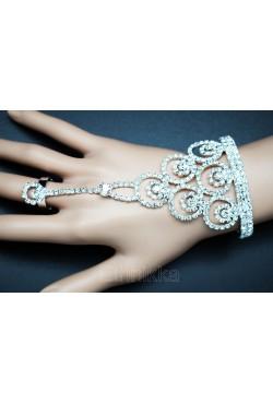 Bijoux ethniques argenté main bracelet