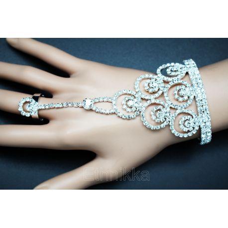 Bijou indien main bracelet de bagues 3 doigts