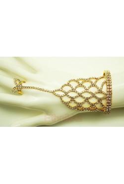 Bijoux ethniques indien bracelet bague plaqué or