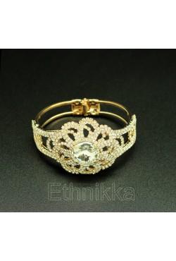 Bijou oriental bracelet plaqué or arabesque