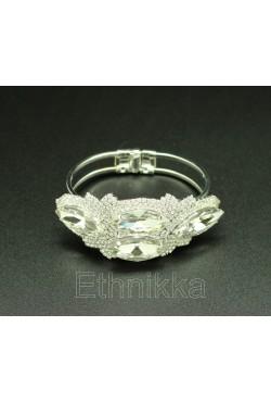 Bijou oriental bracelet strass en plaqué argent