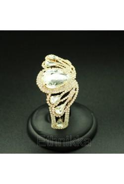 Bijou oriental bracelet strass décoré de motifs