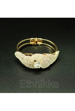 Bijou oriental bracelet strass plaqué or