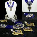 Bijoux indiens ethniques parure bleu