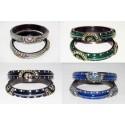 Bracelet d'Inde bangles laqué cristal multicolor
