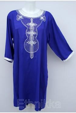 Tunique femme longue bleue