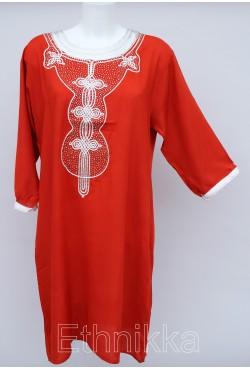 Tunique orientale longue rouge