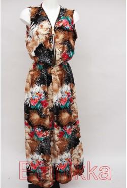 Robe longue d'été exotique noire