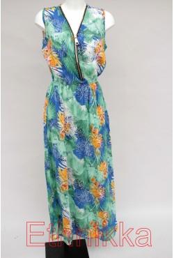 Robe longue d'été turquoise