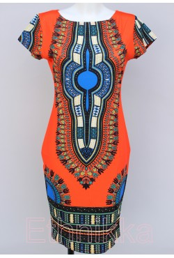 Robe africaine orange