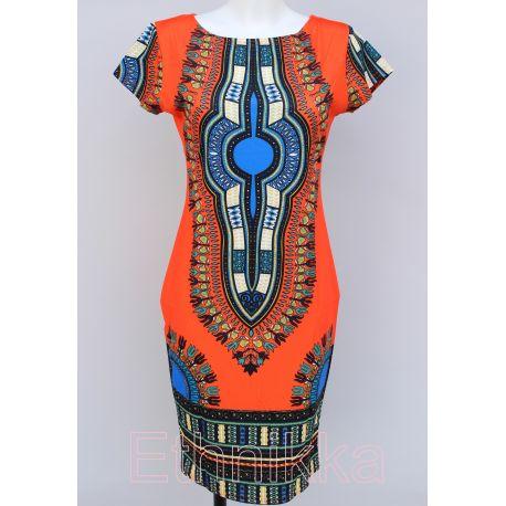 Robe africaine orange
