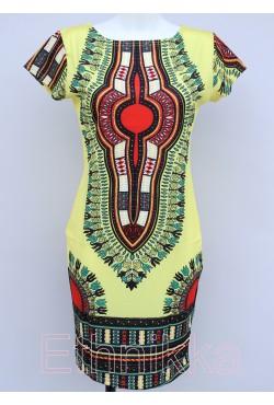 Robe africaine jaune