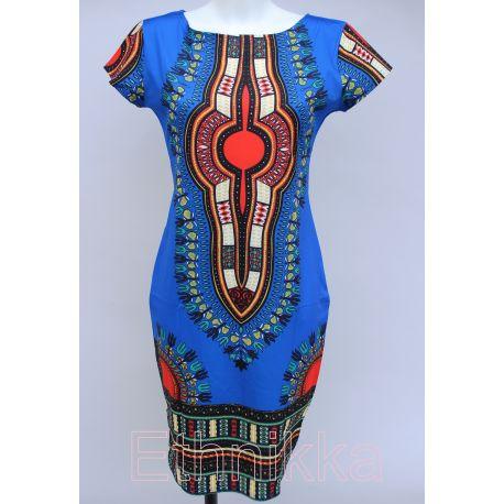 Robe africaine bleue