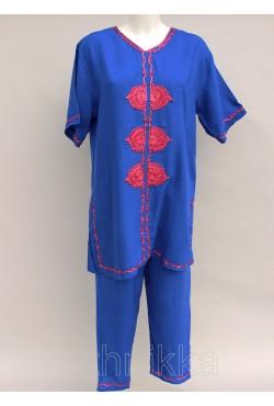 Robe tunique orientale longue violette
