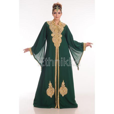 Robe Dubaï bleu royal