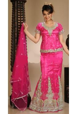 Robe orientale de dubai rose
