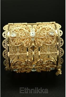 Bracelet oriental chic strass