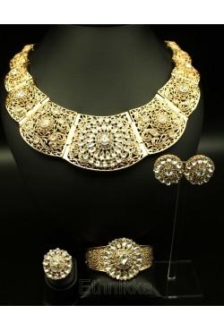 Parure bijoux ethniques orientaux turc plaqué or
