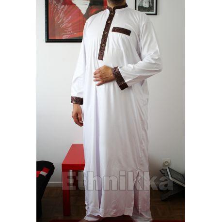 Djellaba homme ZEIN blanche manches courtes