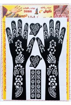 Pochoirs pour tatouages de fleurs henné