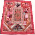 Couvre lit indien rouge