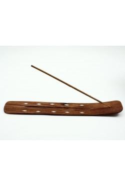 Porte encens boite en flèche en bois