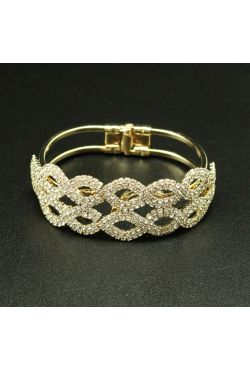 Bracelet strass en plaqué or