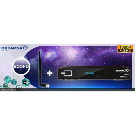 Dreamsat 800 HD décodeur satellite avec ou sans parabole