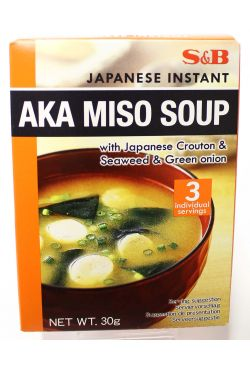 Soupe japonaise à l'algue et oignois vert avec ces croutons