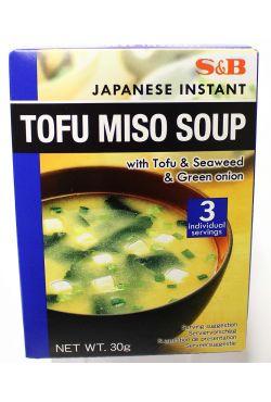 Soupe japonaise au tofu, algue, oignons verts